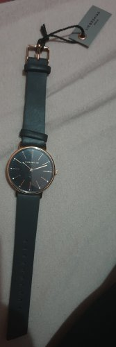 Liebeskind Watch With Leather Strap black-rose-gold-coloured
