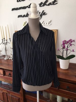 MNG Slip-over Blouse dark blue-white mixture fibre