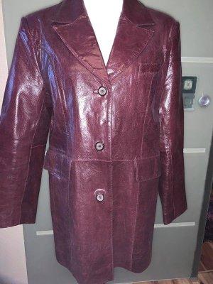 Edle Echt Leder Jacke Mantel in gr 46 Farbe Bordoux Super Qualität