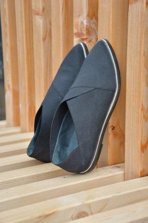 edle Flats mit silbernem Sohlendetail, UNITED NUDE