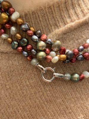 Pierre Lang Collana di perle multicolore