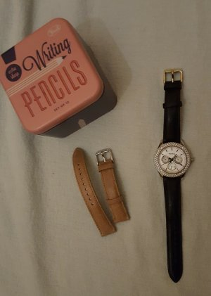 Edle Fossil- Uhr mit Zusatzarmband