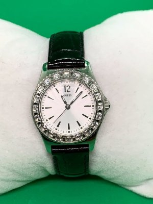 Guess Watch With Leather Strap black-light grey