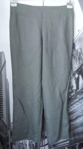 edle H&M Leinen Hose Gr. 36 Khaki wenig getragen