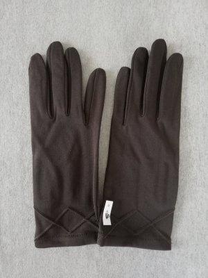 Edle Handschuhe in Trüffel Braun Größe 2