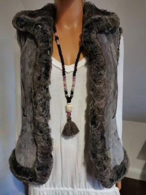 Vero Moda Fur vest multicolored