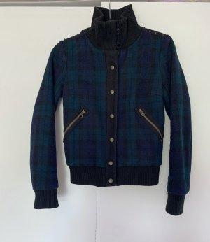 Edle Jacke von Maison Scotch Größe S 36 Dunkelblau-/grün kariert