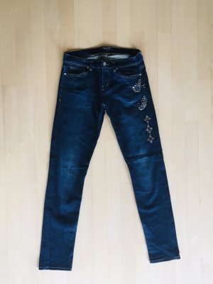 Edle Jeans mit Kristall-Applikationen Jeansgröße 27