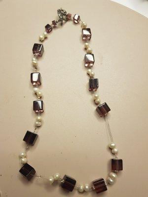 no name Necklace silver-colored-bordeaux