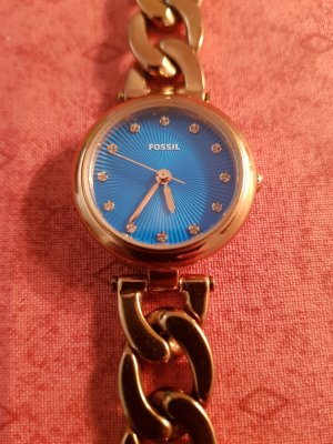 Edle Kettenuhr v. Fossil, rosegold top Zustand