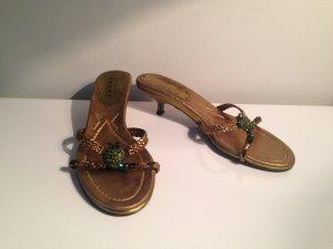 Claudia Obert High-Heeled Sandals grass green-bronze-colored