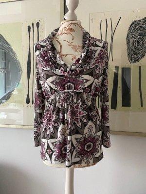 Edle Langarm-Shirt-Tunika mit tollem floralen Muster