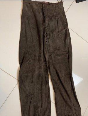 Strenesse Pantalón de cuero marrón