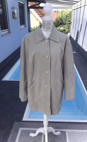 100% Fashion Giacca in pelle beige-color cammello