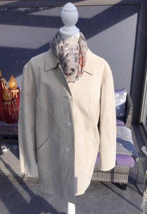 100% Fashion Skórzana kurtka beżowy-camel