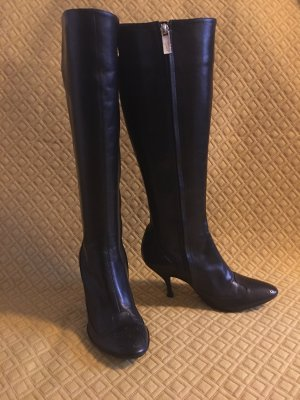 Celine Paris High Heel Boots black leather
