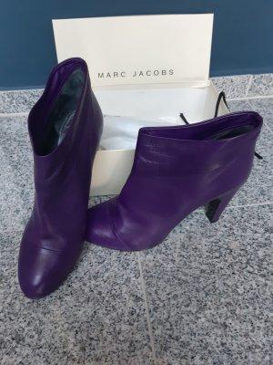 Marc Jacobs Enkellaarzen lila-donkerpaars Leer