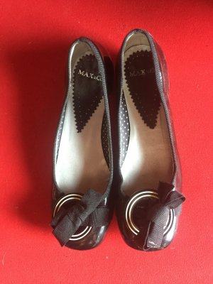 Edle Max & Co Ballerinas schwarz Gr. 36 NP 249 Euro