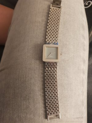 no name Watch With Metal Strap silver-colored