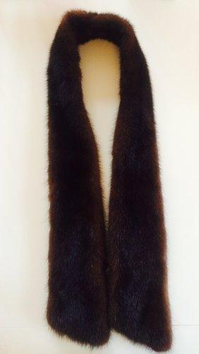 Stola marrone-nero-marrone scuro