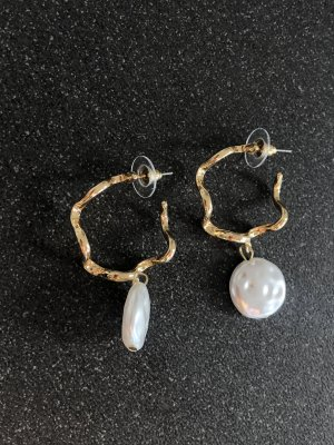 & other stories Gold Earring gold-colored-white metal