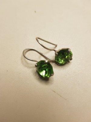 no name Boucles d'oreilles en argent argenté-vert gazon