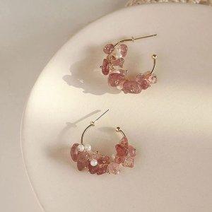 Handmade Pearl Earring multicolored