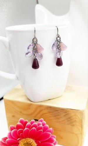 Orecchino a pendente argento-viola