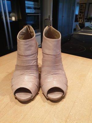 Peep Toe Booties taupe-nude