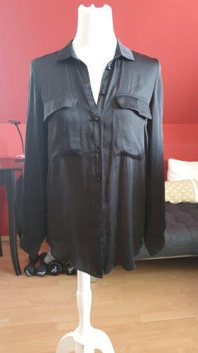 Replay Glanzende blouse zwart