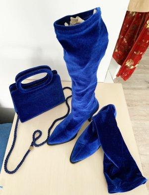 vakko Bottes stretch bleu tissu mixte