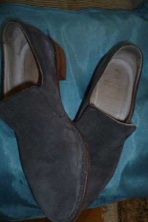 Brunello Cucinelli Scarpa slip-on grigio Pelle