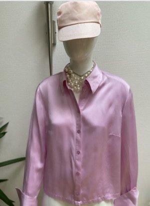 Madeleine Jedwabna bluzka różowy neonowy Jedwab