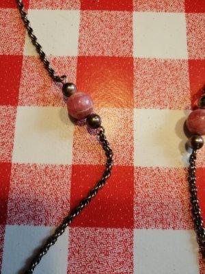 Chaîne en argent argenté-rose
