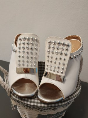 Italy Slingback Pumps white
