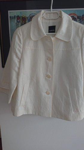 Taifun Veste courte blanc cassé tissu mixte
