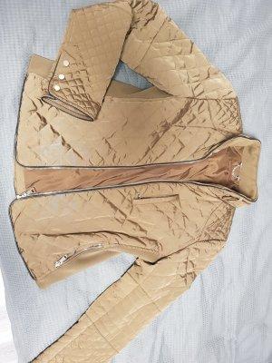 Zara Pikowana kurtka piaskowy brąz-khaki