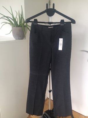 Oui Set Spodnie z zakładkami antracyt-czarny