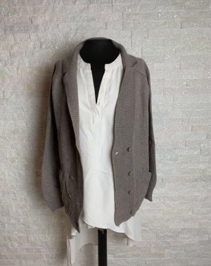Tandem Giacca in maglia marrone-grigio
