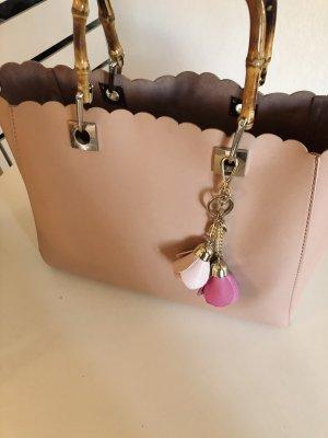 Hallhuber Bolso barrel color rosa dorado-rosa