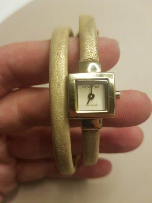 Pandora Zegarek ze skórzanym paskiem złoto