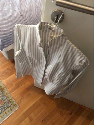 van Laack Stand-Up Collar Blouse light grey-grey