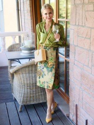 Silk Skirt multicolored mixture fibre