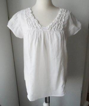 edle Vero Moda Bluse Gr. M weiß wenig getragen