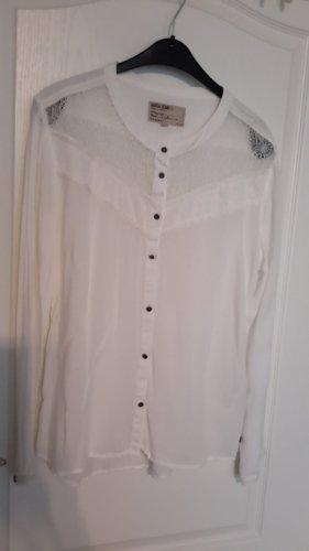 """edle weiße Bluse mit schönem Netzdetail """"neuwertig"""""""