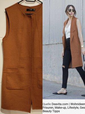 Hallhuber Knitted Vest brown