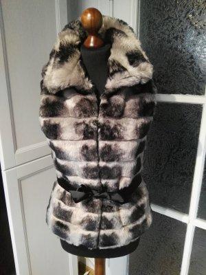 Morgan de Toi Fake Fur Vest multicolored