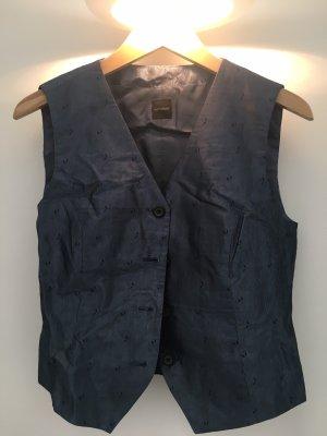 Windsor Omkeerbaar vest grijs-donkerblauw