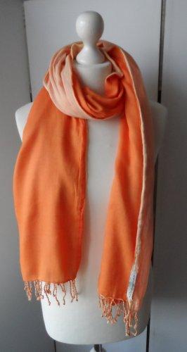 edler Blaumax Doubleface Schal Orange wenig getragen