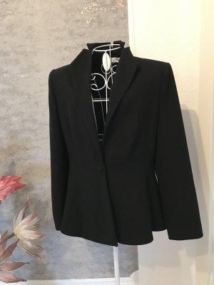 Crines Design Blazer en laine noir laine